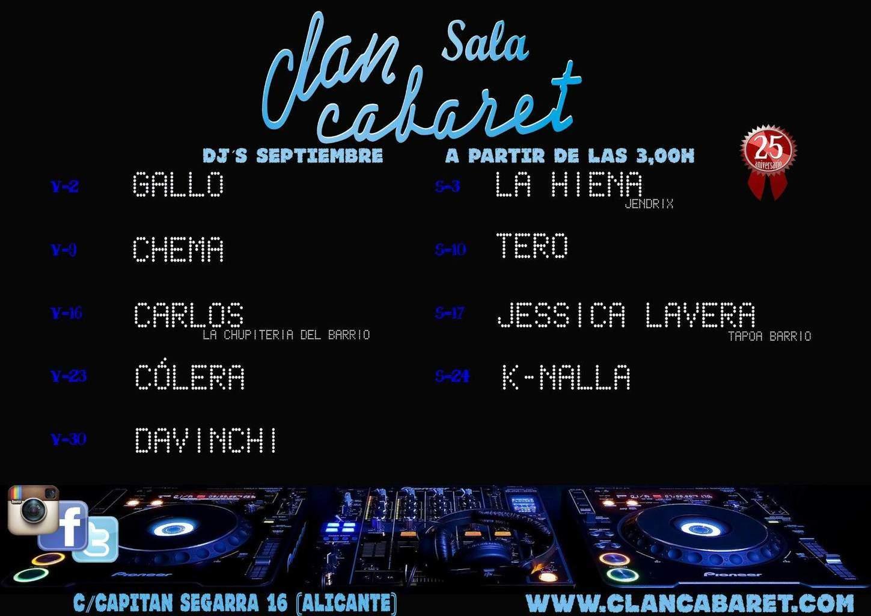 Sala clan cabaret ocio nocturno y cultura en alicante for Sala clamores proximos eventos